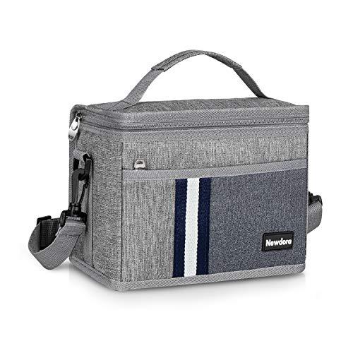 Newdora 6L Kühltasche Klein Picknicktasche Lunchtasche Mittagessen Tasche Thermotasche Kühltasche Isoliertasche für Lebensmitteltransport Isoliertasche für Sport, Picknick, Büro, Auto oder Urlaub