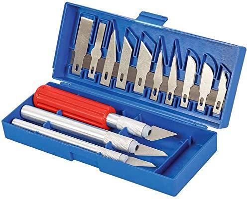 vendify® Bastelmesser Skalpell Set 16 tlg., Bastelset, Präzisionsmesser Skalpellmesser Ersatzklingen, 16 teilig, Handwerkliches Hobbymesser Cutter - Cuttermesser zum Basteln als Bastelwerkzeug