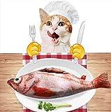 Laifug, Giocattolo per Gatto con Erba gatta (Pesce Rosso)...