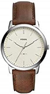 Fossil Mens Quartz Watch, Analog Display and Leather Strap FS5439
