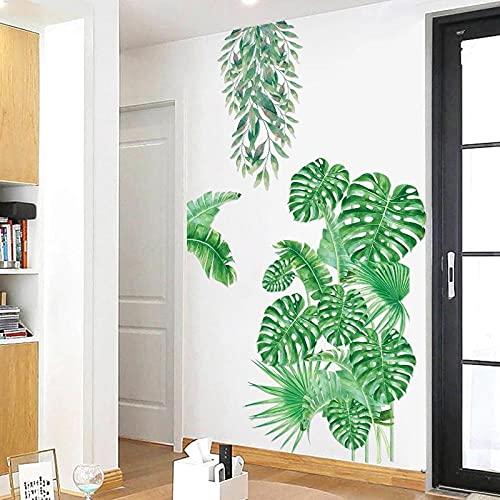 Gran Planta Tropical Etiqueta De La Pared Dormitorio Decoración De La Sala De Estar Pvc Adhesivo Mural Decoración Del Hogar Calcomanías De Arte Pegatinas De Hoja Verde