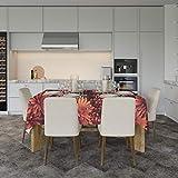 Mantel Flores Naranjas 240x120cm | Mantel Fabricado en Lona Impresa a Todo Color | Mantel Económico y Original