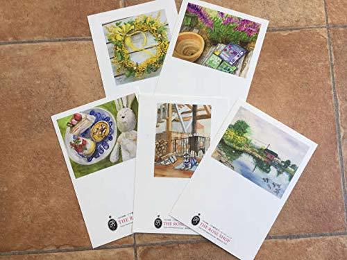 透明水彩画のポストカード アソートPART3 5種類セット ワクワクがいっぱい(ウォーターカラー)(5枚セット)