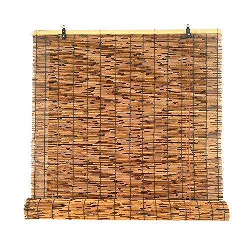 F-XW 145cm Persiana Enrollable, Estor de Bambú, Dan Intimidad, para Stores, en la Cocina o Baño, Cortina Bambú de Ventanas