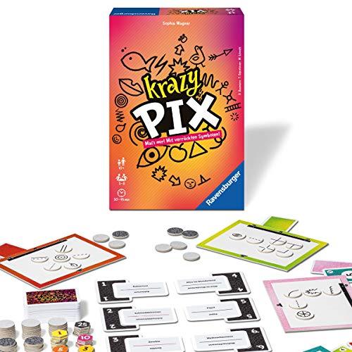 Ravensburger 26836 - Krazy Pix - Gesellschaftsspiel für die ganze Familie, Spiel für Erwachsene und Kinder ab 10 Jahren, Partyspiel für 3-8 Spieler - mit 240 Spielkarten