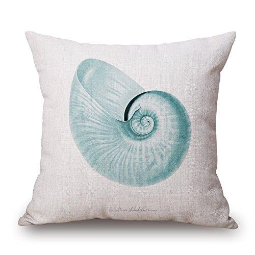 Elliot _ tejo Beautiful Watercolor Marino mar animales manta de lino y algodón cuadrado Funda de almohada Funda de cojín decorativo para nuevo hogar oficina salón cuadrado 18x 18pulgadas