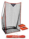 GoSports Football 7' x 4' Kicking Net - Sideline Practice for Punting or Place Kicks, Ultra-Portable Design with Weighted Sand Bags, Black (FB-NET-KICKING-7x4)