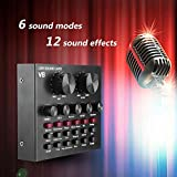 Keen so Carte Son Live multifonctionnelle, Micro de Volume Intelligent Carte Son Externe Interface Audio USB 6 Modes sonores 12 Effets sonores