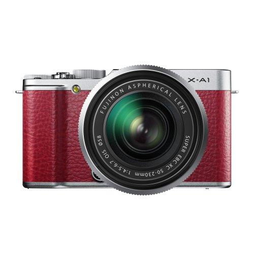FUJIFILM デジタルカメラミラーレス一眼 X-A1ズームレンズキット レッド F X-A1R 1650KIT
