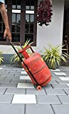 Xplore Full Metal Heavy Duty LPG Gas Cylinder Trolley with Wheels and Handle