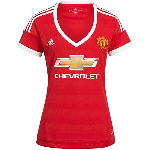adidas Manchester United Womens Home Jersey 2015-2016 (XL) Red