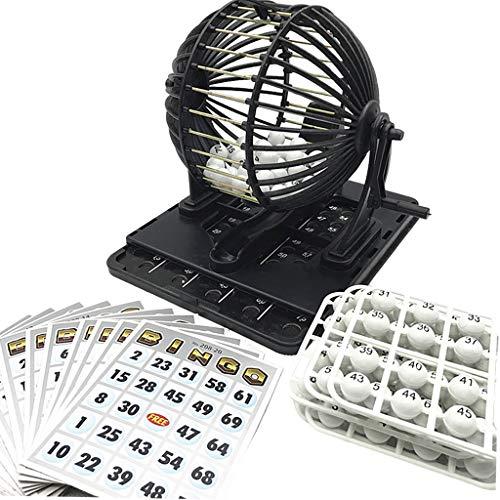 Sharplace Máquina de Lotería de Bingo Reutilizable de Lujo, Portátil Y Duradera para Entretenimiento en El Hogar, Barra de Dibujo para Fiestas, Adultos, Niños,