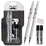 Mr. Pen- Mechanical Pencils 0.9, Pack of 2, Metal Mechanical Pencil with Lead and Eraser, Drafting...