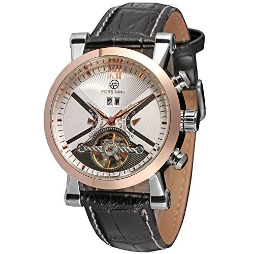 Carrie Hughes Men's Luxury Automatic Mechanical Brown Leather Watch CH338