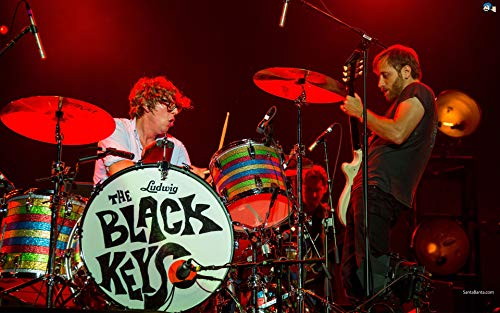 Tainsi Rock Duo: The Black Keys Multicolor - Matte Poster Frameless Gift 11 x 17 pulgadas (28 x 43 cm) *IT-00059