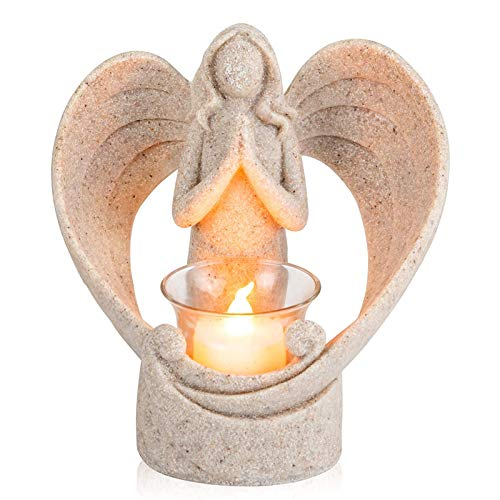 Angel Decoration Candle Holder, Sympathy Gift In Memory of Loved One Angel Statue Tealight Candle Holder, Memorial Gifts for Loss of Loved One, Condolence, Remembrance