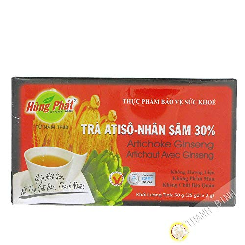 Hung Phat Artischocke-Ginseng Tee - 25 Teebeutel - 50g Vietnam