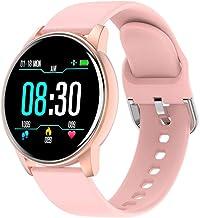 Ronde smartwatch Heren Dames Fitness Tracker Hartslag Bloeddruk Muziekband Slimme wekker Sport Smartwatch
