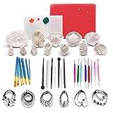 ART KITCHENWARE Gum Paste Blume und Leaf Kit 12 Silikonform
