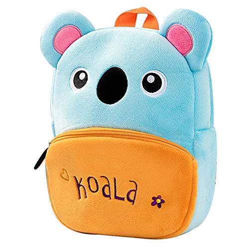 Toddler Backpack for Boys Girls - Plush Children's Backpacks Animal Design Kids School Bag (9.45' x 2.75' x 10.63', Koala)