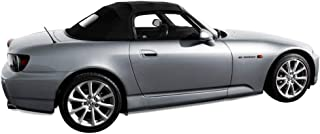 Fits: Honda S2000 Convertible Top with Glass Window in Black Haartz Stayfast Cloth 2002-2009