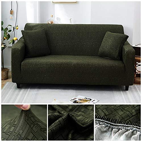 WXQY Funda de sofá elástica con patrón Cruzado Estiramiento Fundas de sofá Todo Incluido para Sala de Estar Funda de sofá Loveseat Fundas de sofá A29 1 Plaza