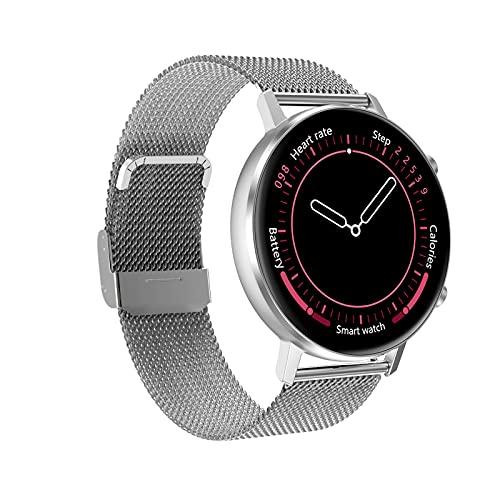 Smart Watch DT96 Pulsera de Fitness Hombres Mujeres SmartWatch Deporte Monitor de Ritmo cardíaco a Prueba de Agua para Android iOS,A