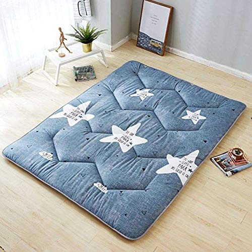 LXSHMF Japanese Quilting Futon Mattresses Thicken Tatami Mattress Napping Foldable Floor Mat Four Seasons Available Mattress Pad For Travel Home A 120x200cm(47x79inch)