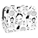 Trousse de Maquillage pour Sac à Main en PVC Pochette cosmétique de Voyage Femme Enceinte Trousse de Toilette pour Femmes Filles Cadeaux Portable Organisateur de Rangement Quotidien résistant à l