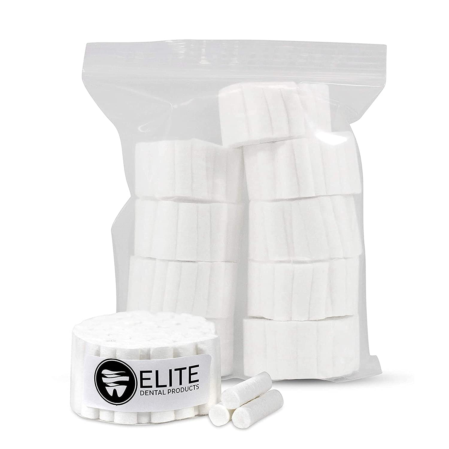 50-Pack Dental Cotton Rolls - Absorbent High Rolled 100% quality El Paso Mall assurance