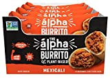 Alpha Foods Mexicali Burrito | 5 oz (Pack of 12) | 100% Plant-Based Protein | Dairy Free | Frozen Burrito | Vegan Meat Substitute