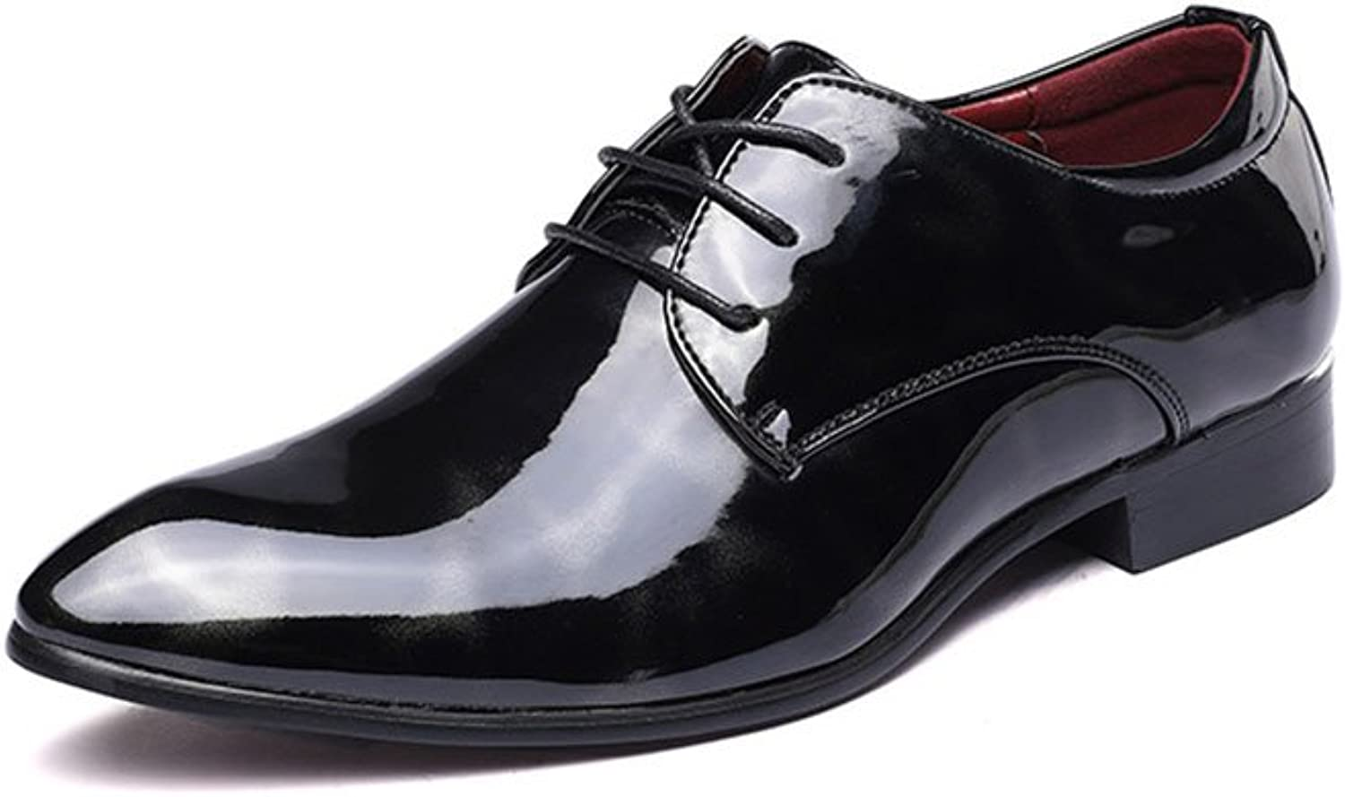 Men's Leather shoes Men's Fashion Leather Formal shoes Men's shoes Leather Spring Fall Fashion Boots Formal shoes Oxfords Walking shoes Black Red bluee Wedding