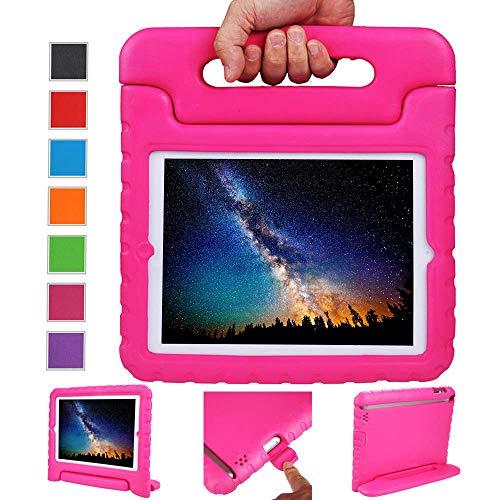NEWSTYLE Funda para iPad 4, iPad 3 y iPad 2,Ligero y Super Protective Funda diseñar Especialmente para los niños para Apple iPad 2, iPad 3, iPad 4 Tableta (Rosa)