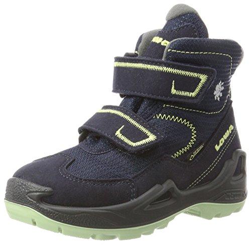 Lowa Milo GTX Mid, Chaussures de Randonnée Basses Mixte Enfant, Bleu (Navy/Mint), 31 EU
