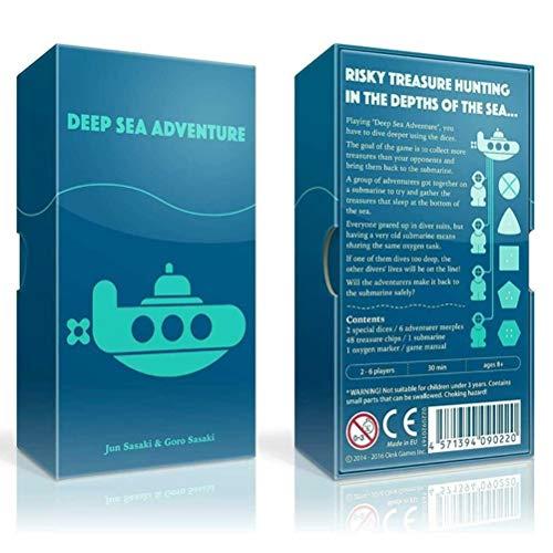 Deep Sea Adventure Game, Cards Full English Deep Sea Adventure Board Game...