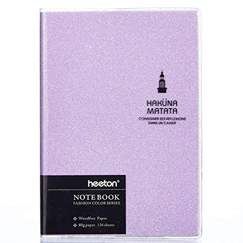 Cuaderno A5 / A6 / A7, organizador de planificador láser colorido, Bloc de notas, diario semanal, diario de viaje, cuadernos de notas, suministros de papelería