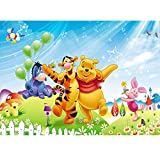 Winnie Decoration Backdrops - simyron Party Supplies Backdrop, Cartoon Birthday Party Photographic Background Winnie Pooh Party Photo Baby Shower Backdrop Photography Studio Props