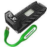 Nitecore THUMB 85 lumen USB rechargeable keychain light/worklight (White/Red) and EdisonBright USB powered flexible reading light bundle