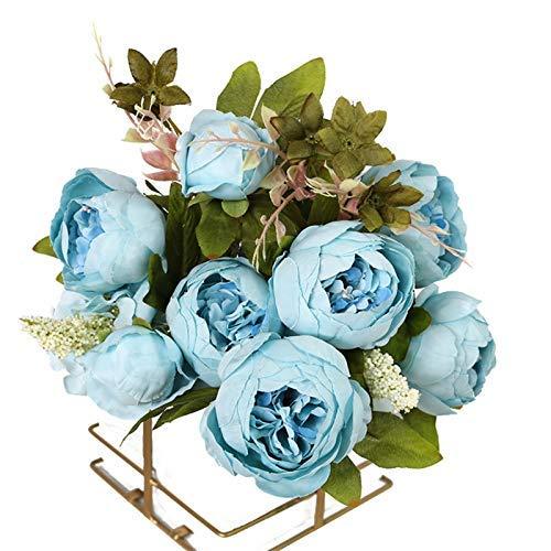 Floreros artificiales para decoración del hogar, accesorios de boda, decoración de novia, maceta de flores conservadas (color: 6)