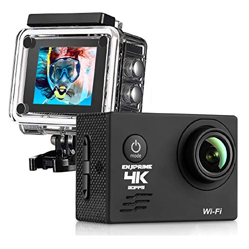 WiFi Sports Action 4K Camera - Waterproof Camcorder 2.0 Inch LCD Display 120 Degree Wide Angle Lens with Outdoor Mounting Accessories