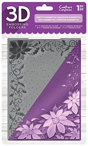 Crafter 's Companion 3D-reliëfmap 12,7 x 17,8 cm – Pretty kerstster, transparant