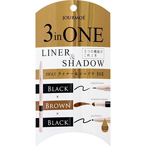 JOURMOE 3 in 1 3Way Liner and Shadow Liquid, Pencil, Shadow Powder in one (01Basic)