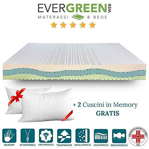 EvergreenWeb–Silver Memory Med–Colchón Memory Foam Alto 20cm