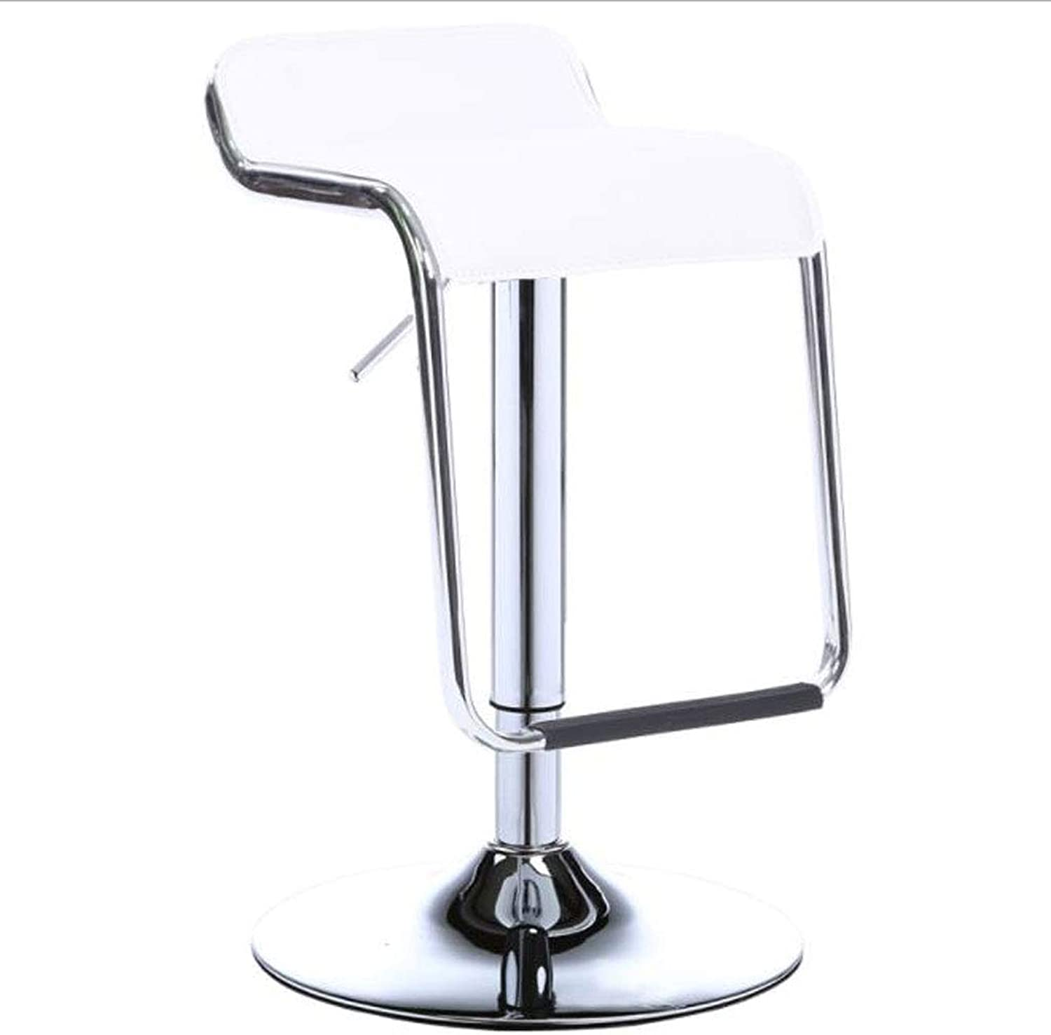 Barstools, Cafe Front Desk Mobile Shop Simple Cortical Pedal Bar Stand Front Desk Up and Down redary Bar Stand (color   White, Size   41cm)