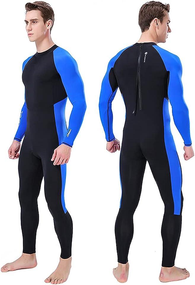 Neoprenanzüge Herren Premium Neopren Männer in voller Länge Neoprenanzug ein Stück Bademode schnell trocknen Ganzkörper-Tauchanzug wasserdicht Anzug UV-Schutz lange für Surfen Schwimmen Schnorcheln