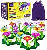 Limmys 105-Teile-Set 'Build My Dream Garden' Blumen-Garten Spielzeug für Kleinkinder - Lernspielzeug als Geschenk für Mädchen ab 3 Jahre - Bausteine-Kompatibel, Kreativ, für Drinnen und Draußen