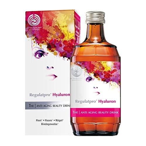 Dr. Niedermaier Regulatpro® Hyaluron I Beauty Drink mit Hyaluronsäure, Vitamin C, Vitamin D, Biotin, Zink und Kupfer I Anti-Aging I Hyaluron zum Trinken I 350ml