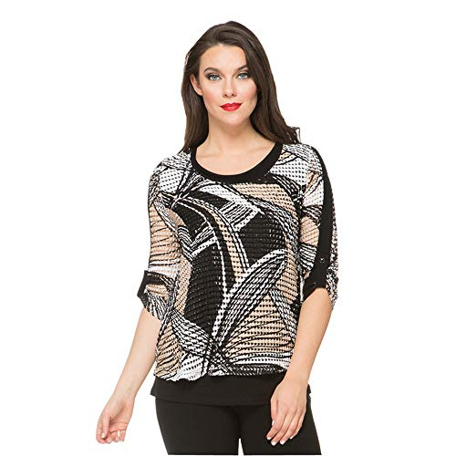 Joseph Ribkoff Women's 3/4 Sleeve Layered Tunic