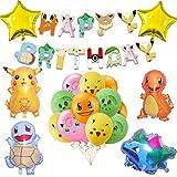 Pokémon - Juego de decoración para fiestas de cumpleaños infantiles, diseño de Pikachu
