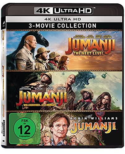 Jumanji 1-3 - 3-Disc-Set (3 UHD, Limited Edition) exklusiv bei Amazon.de [Blu-ray]